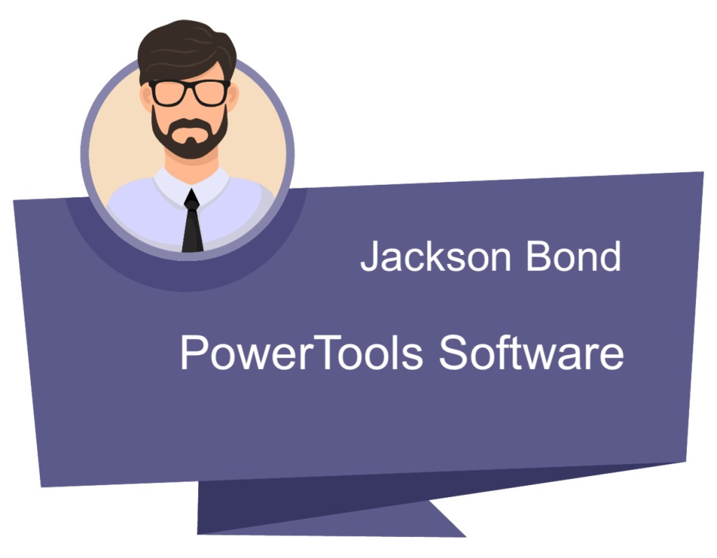 5-star review of Tumbling Wave Software by our client, Jackson Bond from PowerTools Software. The image links to the PowerTools Software website.